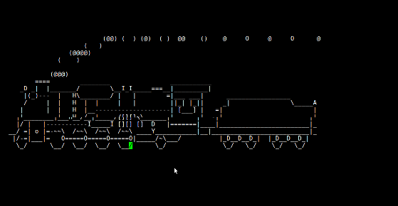 """Fig.01: Run steam locomotive across the screen if you type """"sl"""" instead of """"ls"""""""